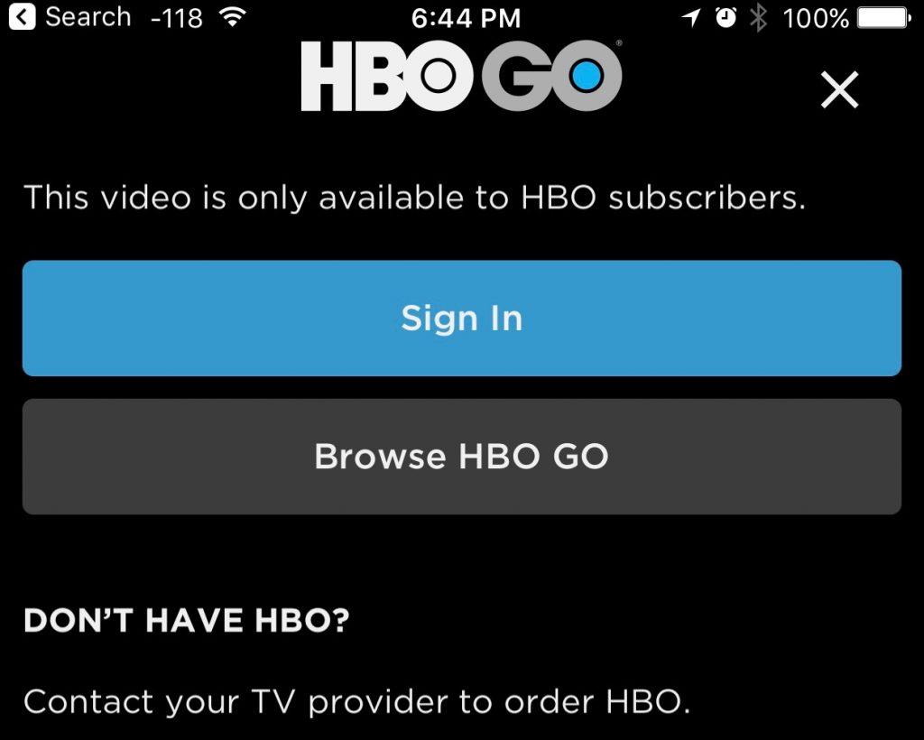 HBO Go Login